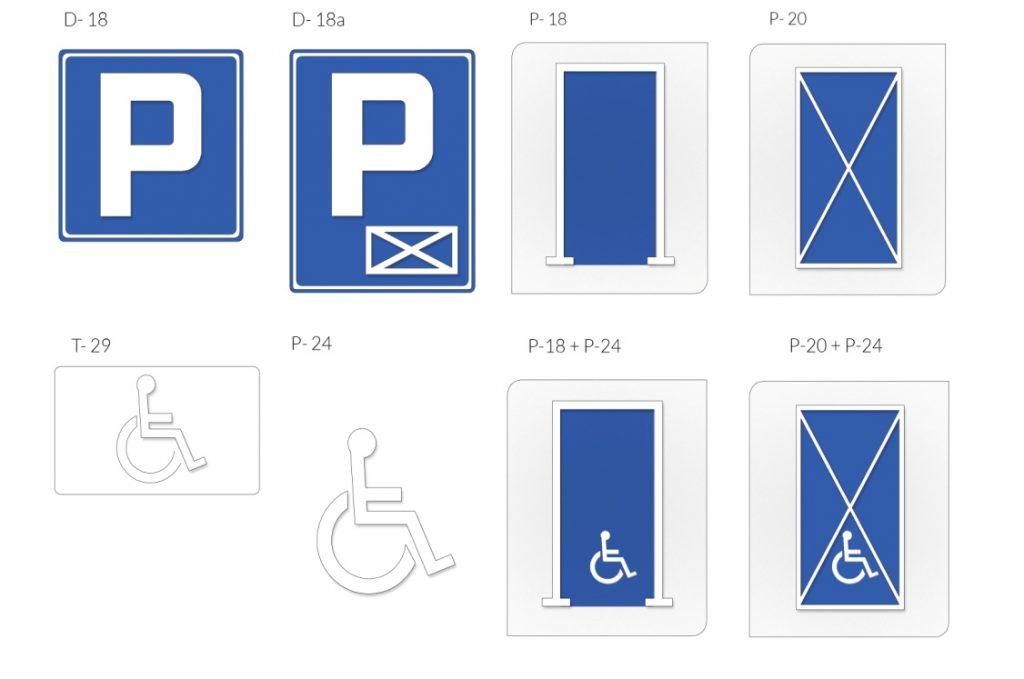 Oznakowanie stanowisk postojowych według Rozporządzenia Ministra Infrastruktury zdnia 3 lipca 2003 r.