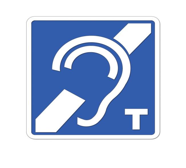 Rys. 20. Oznaczenie miejsc zfunkcjonowaniem pętli indukcyjnej piktogramem zgodnym zETSI EN 301 4622 (2000-03)