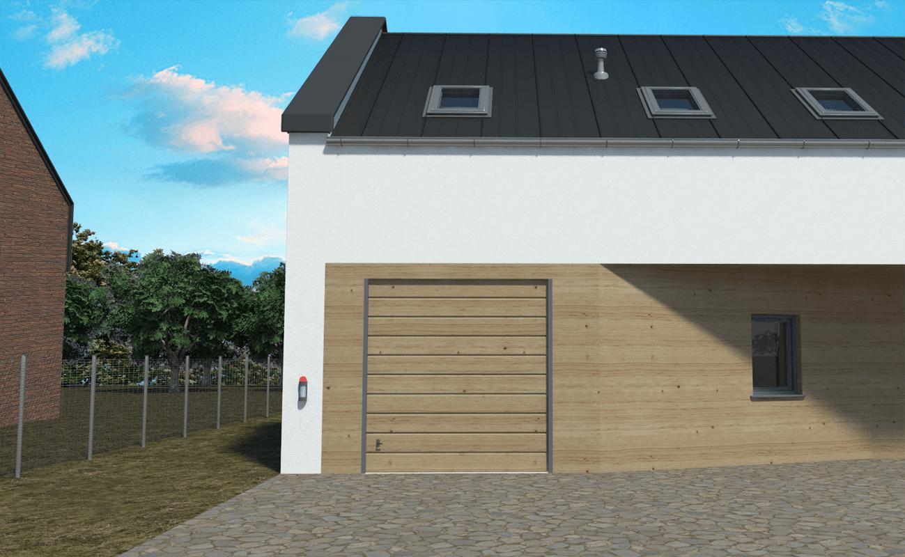 Kadr 2 - Widok na garaż
