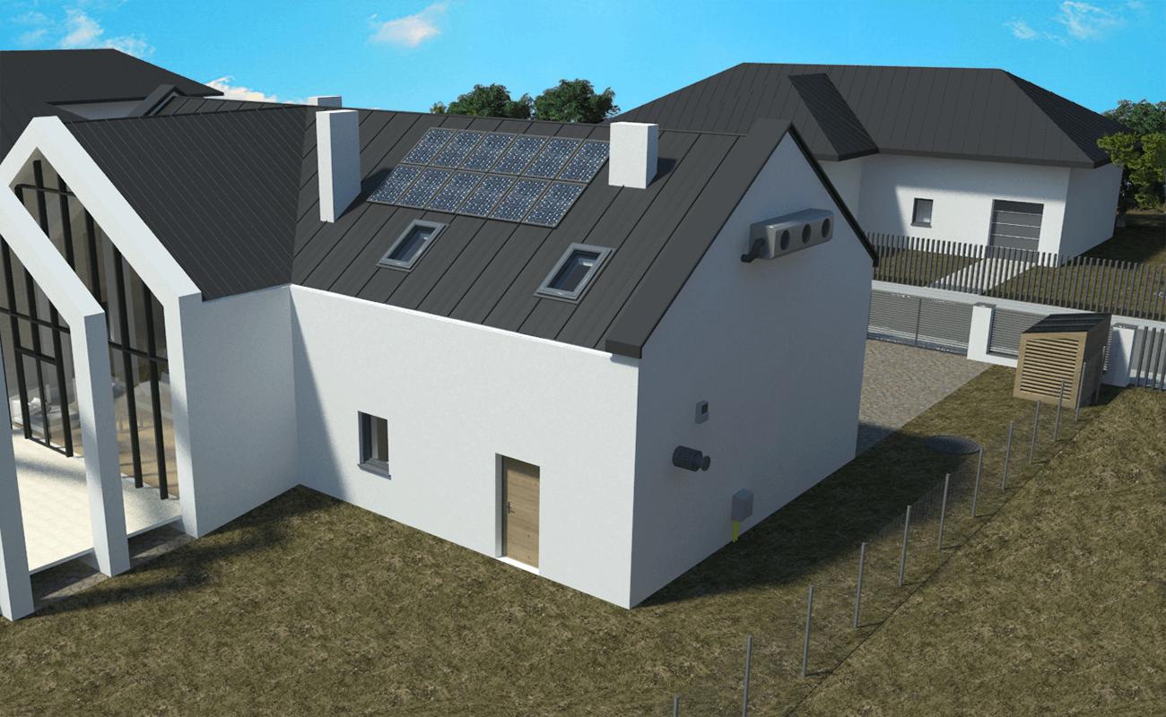 Kadr 7 - Widok na dach i tylne drzwi (panel słoneczny)