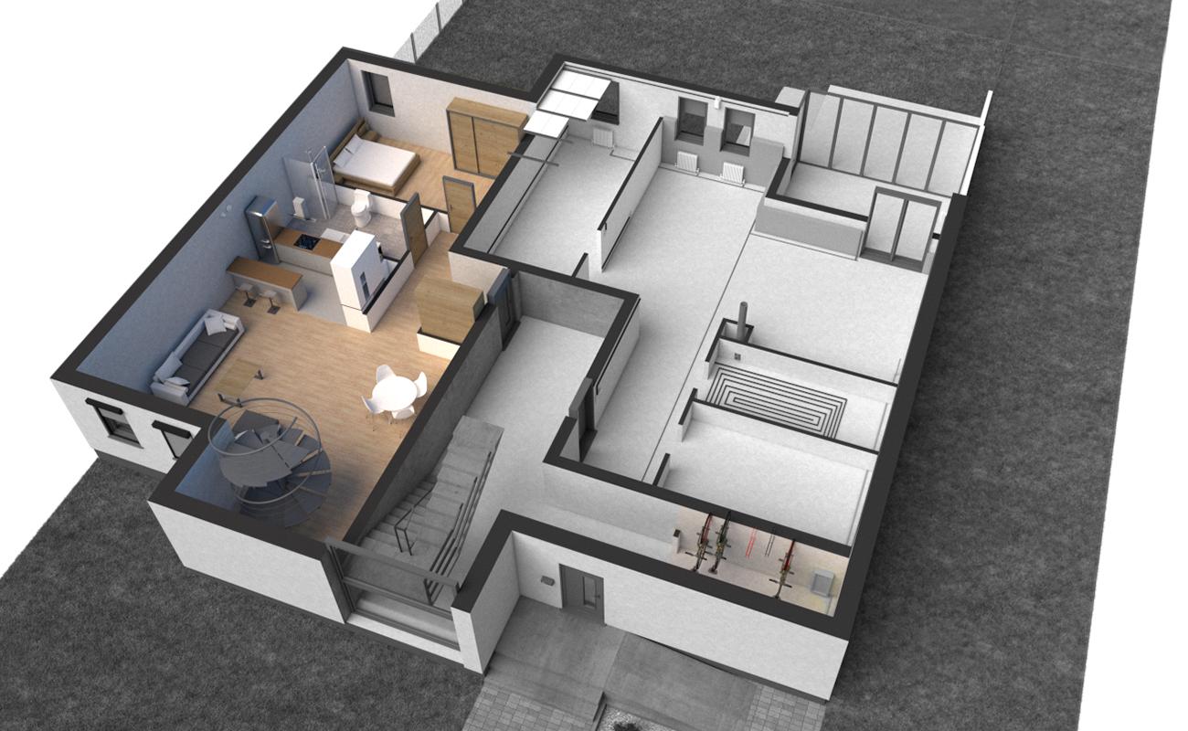 Rzut III Parter - mieszkanie