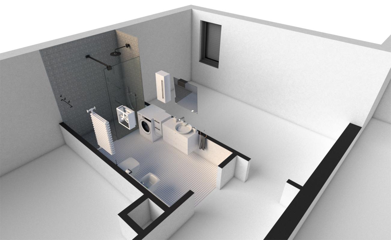 Rzut IIIc Parter - łazienka