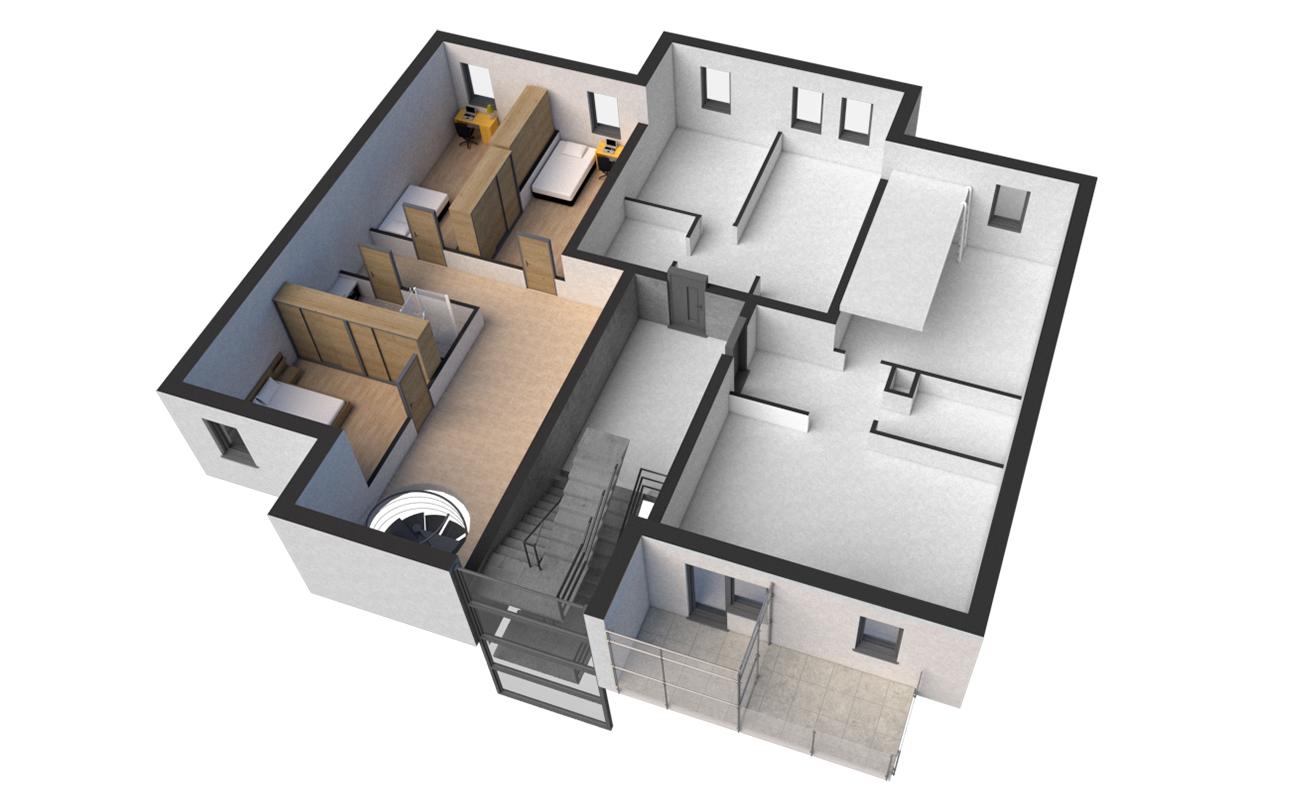 Rzut VI Piętro - mieszkanie